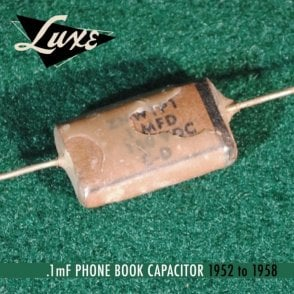 1952-1958 Phone Book: Wax Impregnated Paper & Foil .1mF Capacitor