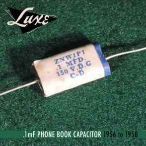 1956-1958 Phone Book: Wax Impregnated Paper & Foil .1mF Capacitor