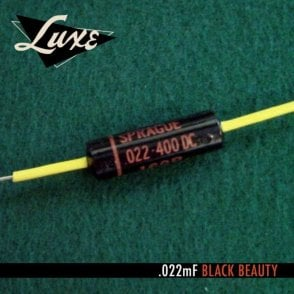 1960-1970 Single Luxe Paper & Foil .022mF Black Beauty Capacitor