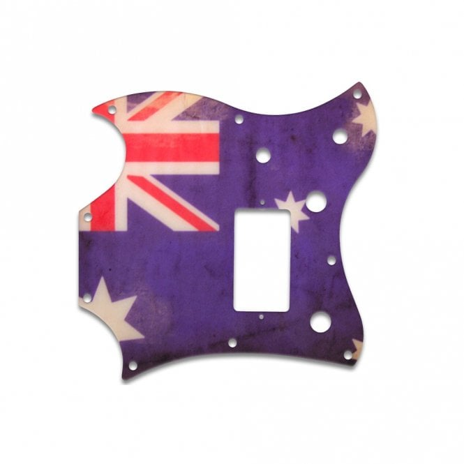 WD Music 2011 Gibson Sg Melody Maker - Aussie Flag Relic