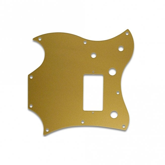 WD Music 2011 Gibson Sg Melody Maker - Gold/Clear/Gold