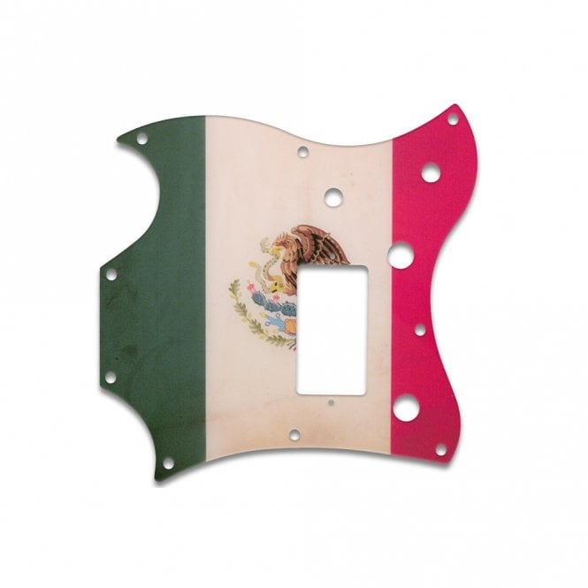 WD Music 2011 Gibson Sg Melody Maker - Mexican Flag Relic