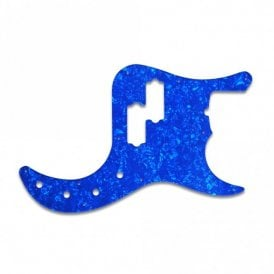 American Deluxe P Bass - Blue Pearl White/Black/White 3 ply Lamination
