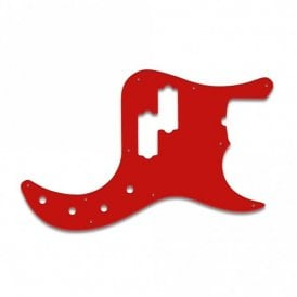 American Deluxe P Bass - Red White Red