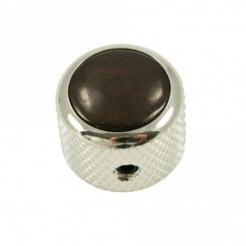 Dome knob - Hardwood cap - Ebony / Chrome base