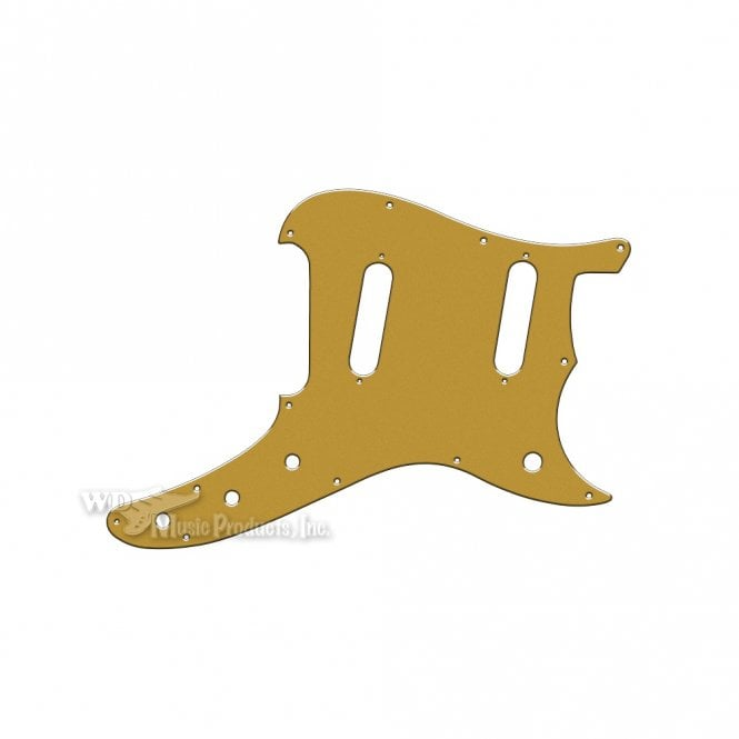 WD Music Duosonic Replacement Pickguard for Reissue Model - Gold/Clear/Gold