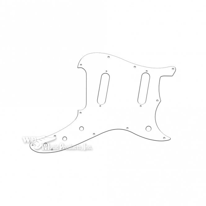 WD Music Duosonic Replacement Pickguard for Reissue Model - White Thin