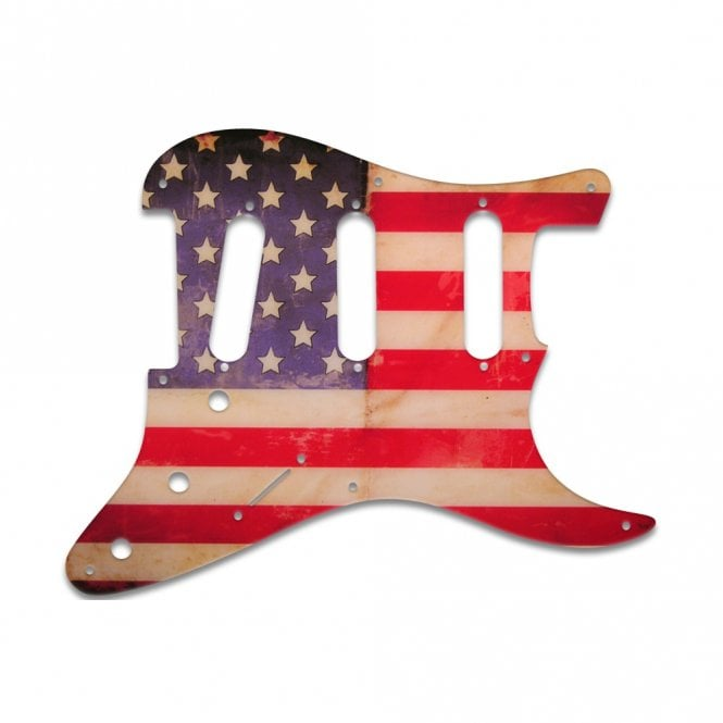 WD Music Eric Johnson/Eric Clapton/Stevie Ray Vaughan Signature Strats - American Flag Relic