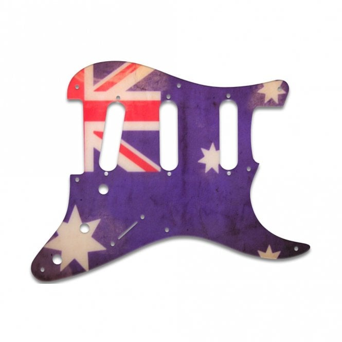 WD Music Eric Johnson/Eric Clapton/Stevie Ray Vaughan Signature Strats - Aussie Flag Relic