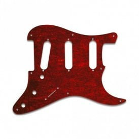 Eric Johnson/Eric Clapton/Stevie Ray Vaughan Signature Strats - Pickguard Red Shell