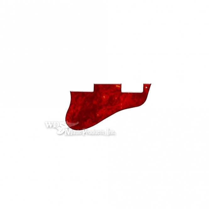WD Music ES-335 Replacement Pickguard for USA 1960's Era Original and Reissue Models - Red Tortoise Shell
