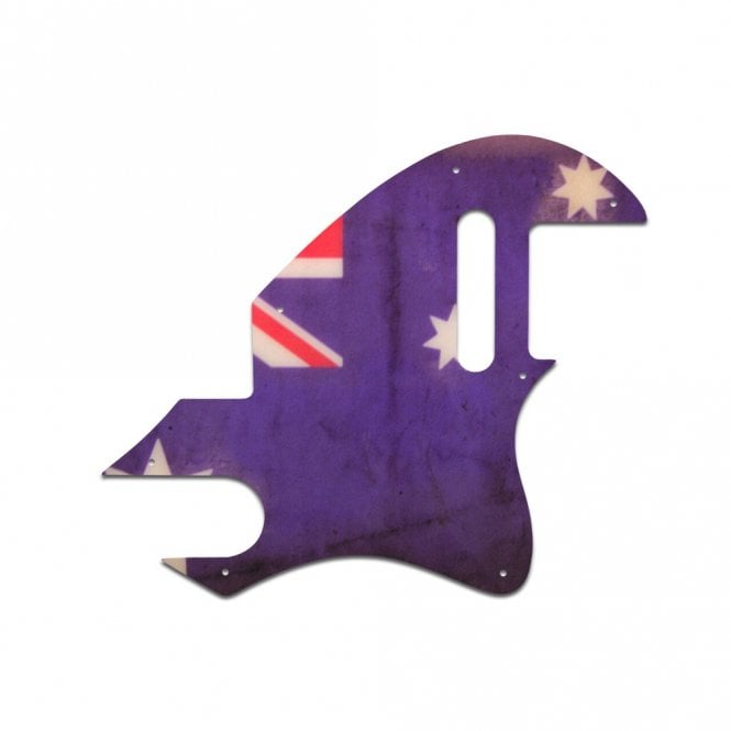 WD Music F Hole Tele - Aussie Flag Relic