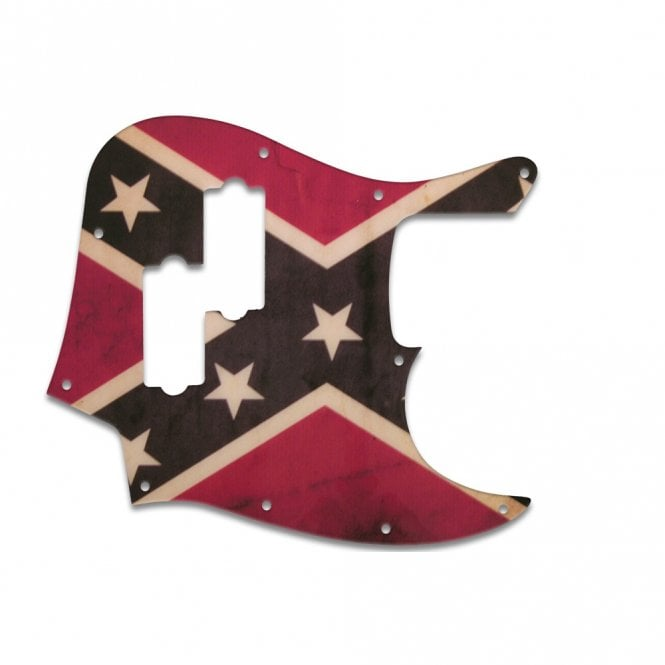 WD Music Fender Blacktop Jazz Bass - Dixie Flag Relic
