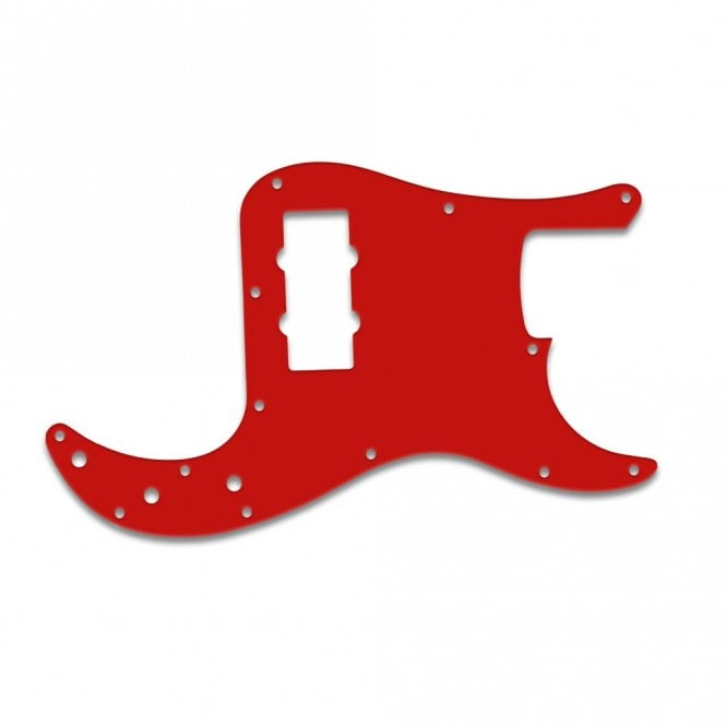 WD Music Fender Blacktop Precision Bass - Red White Red