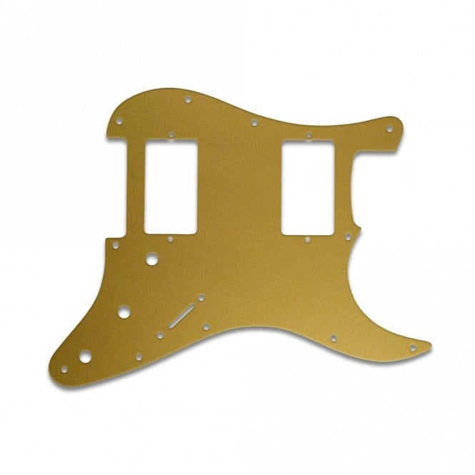 WD Music Fender Blacktop Series Strat 2 Humbuckers - Gold/Clear/Gold