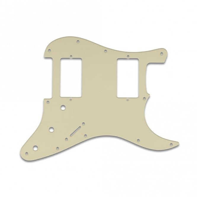WD Music Fender Blacktop Series Strat 2 Humbuckers - Parchment 3 Ply