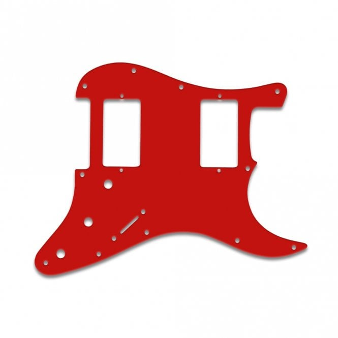 WD Music Fender Blacktop Series Strat 2 Humbuckers - Red White Red
