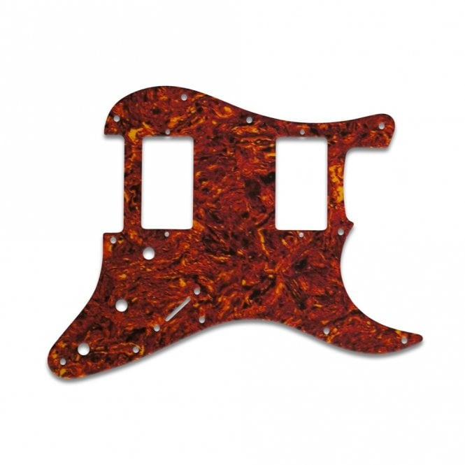 WD Music Fender Blacktop Series Strat 2 Humbuckers - Tortoise Shell/Parchment Lamination