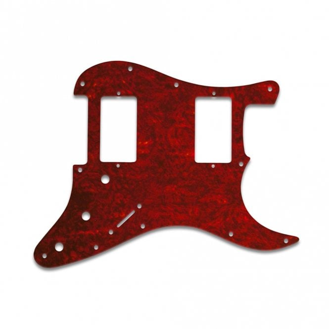 WD Music Fender Blacktop Series Strat 2 Humbuckers - Tortoise Shell Red