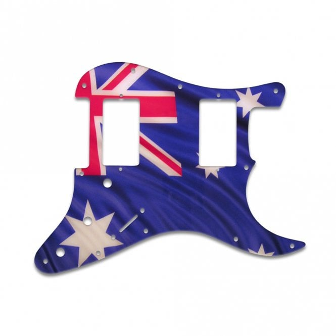 WD Music Fender Blacktop Series Stratocaster 2 Humbuckers - Aussie Flag