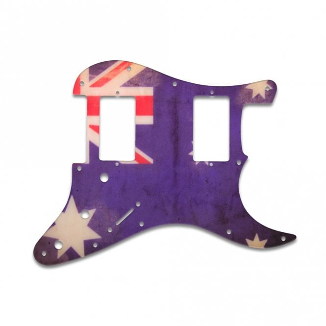 WD Music Fender Blacktop Series Stratocaster 2 Humbuckers - Aussie Flag Relic