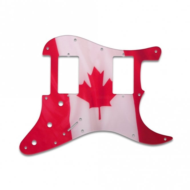 WD Music Fender Blacktop Series Stratocaster 2 Humbuckers - Canadian Flag