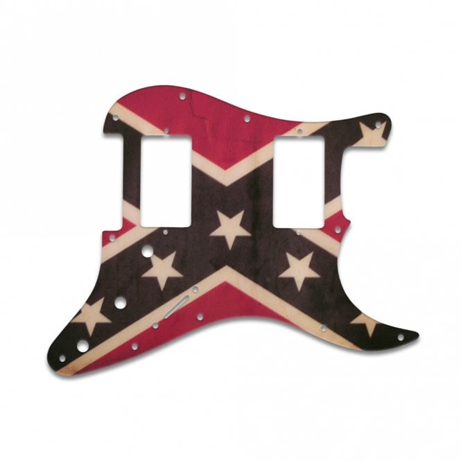 WD Music Fender Blacktop Series Stratocaster 2 Humbuckers - Dixie Flag Relic