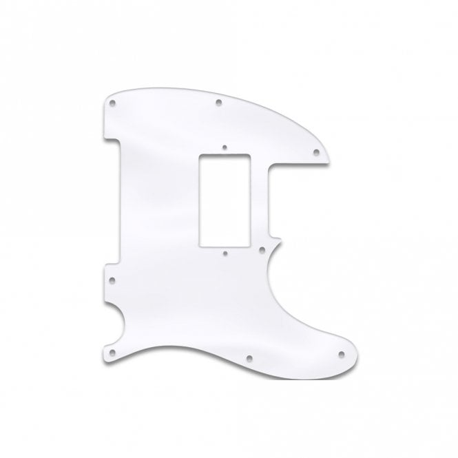 WD Music Fender Blacktop Series Tele - Clear Acrylic (.125)