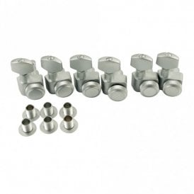 Locking Tuners Brushed Chrome, Set Of 6