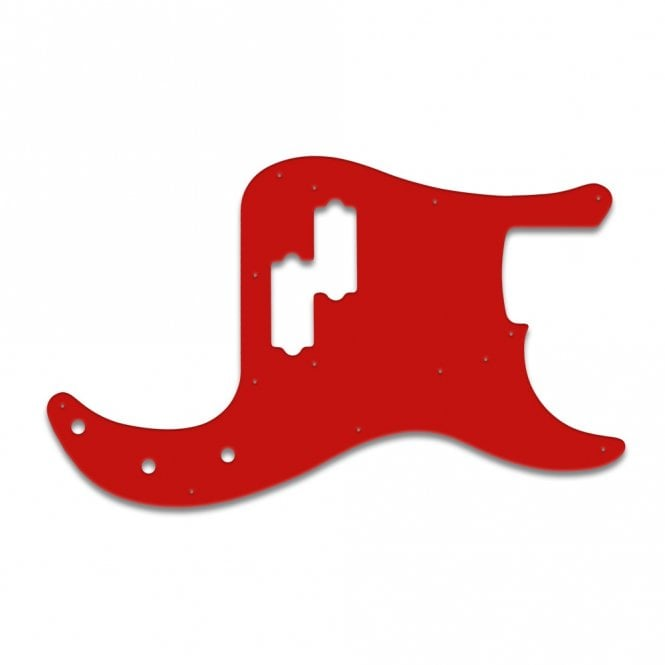 WD Music Fender Road Worn Series 50s P Bass - Red White Red
