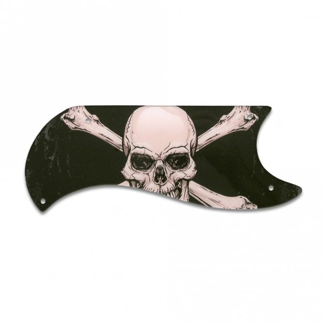 WD Music Gibson Sg Custom (Half Face) - Skull & Crossbones (Jolly Roger)