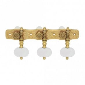 35G510 Premium 510 Series Gold Classical Guitar Tuners, Pearl Buttons