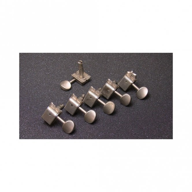 Gotoh 6 in line vintage-style tuners aged nickel finish