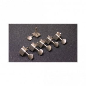 6 in line vintage-style tuners aged nickel finish