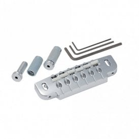 Combination Wrapover Bridge/Tailpiece with mounting posts and studs