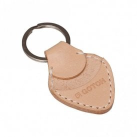 Genuine Leather Plectrum Holder Keyring Case