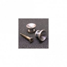 Nickel Strap Buttons With Screws Aged Finish (Set of 2)