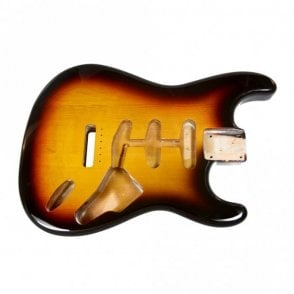 Strat Body 3 Tone Sunburst