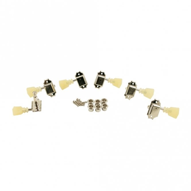 "Kluson 3 Aside Tulip Double Ring, Single ""Kluson"" Row Tuners Nickel"