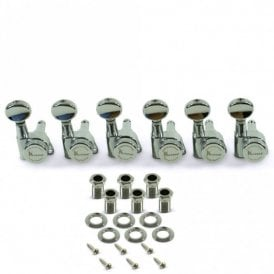 6 In Line Locking Contemporary Diecast Series Tuning Machines