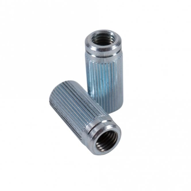 Kluson Anchor Bushings (2) Fine Knurl .986 In. (25mm) Clear Zinc with Metric Threads