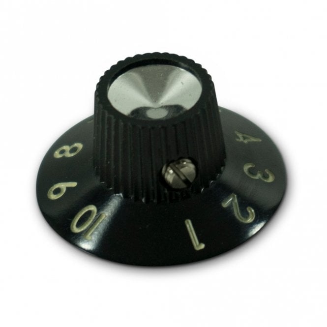 Kluson Bakelite Black Skirted Amplifier Knob Set