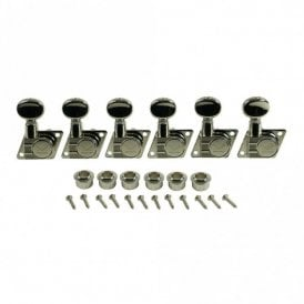 F Style Diecast Revolution Tuners For Fender, 6 In Line - No Collar