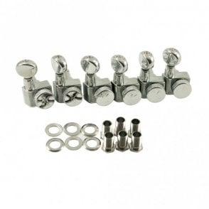 Locking Tuners For Fender USA Standards, 6 In Line - Oval Metal Button