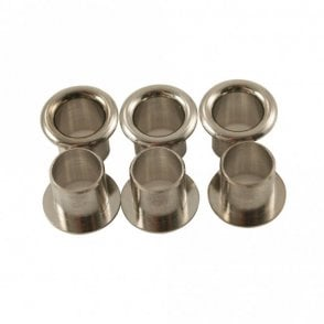 Push-Fit Stamped Tuning Machine Eylets (Set of 6)