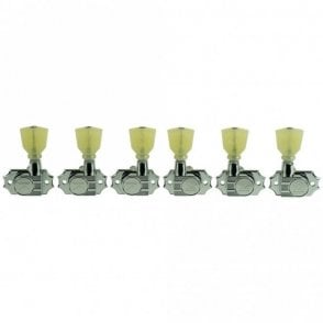 Revolution G-Mount Diecast Tuners - 3 Per Side - Pearloid Keystone Button