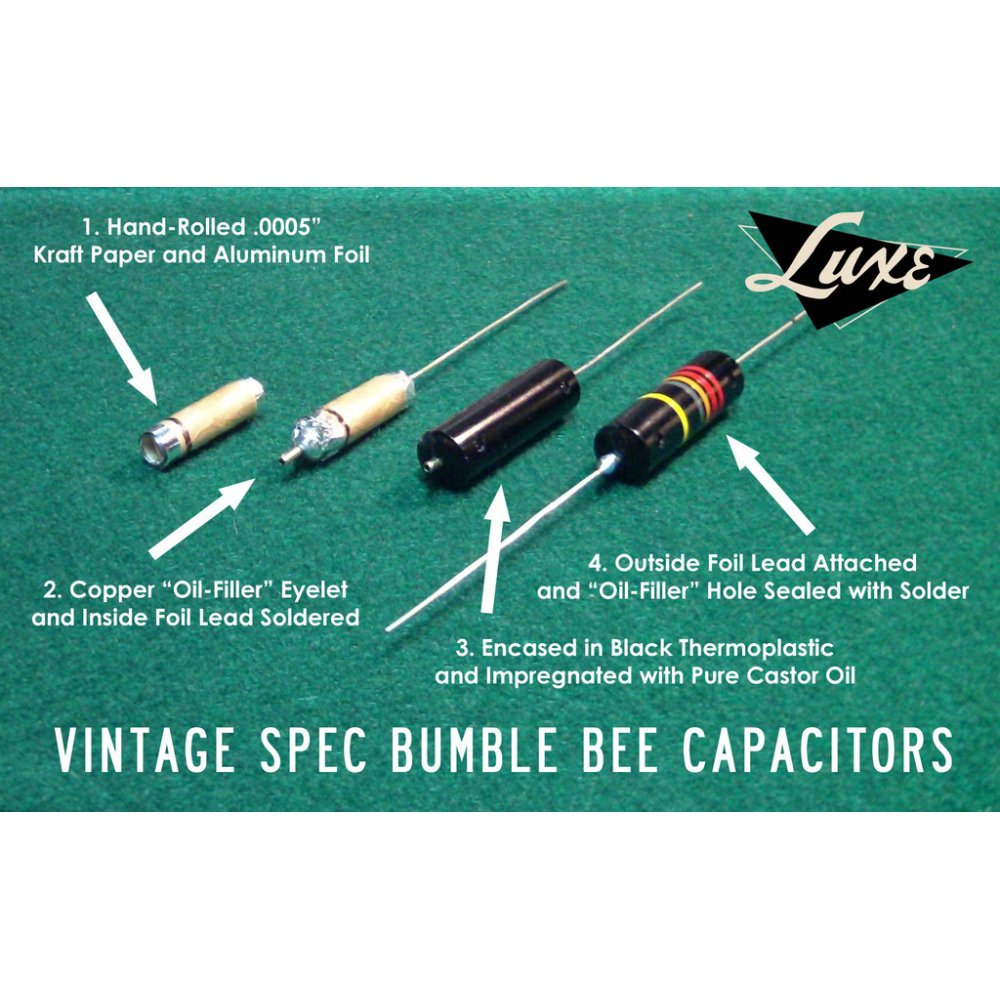 Luxe Vintage Correct Capacitors For Electric Guitar And
