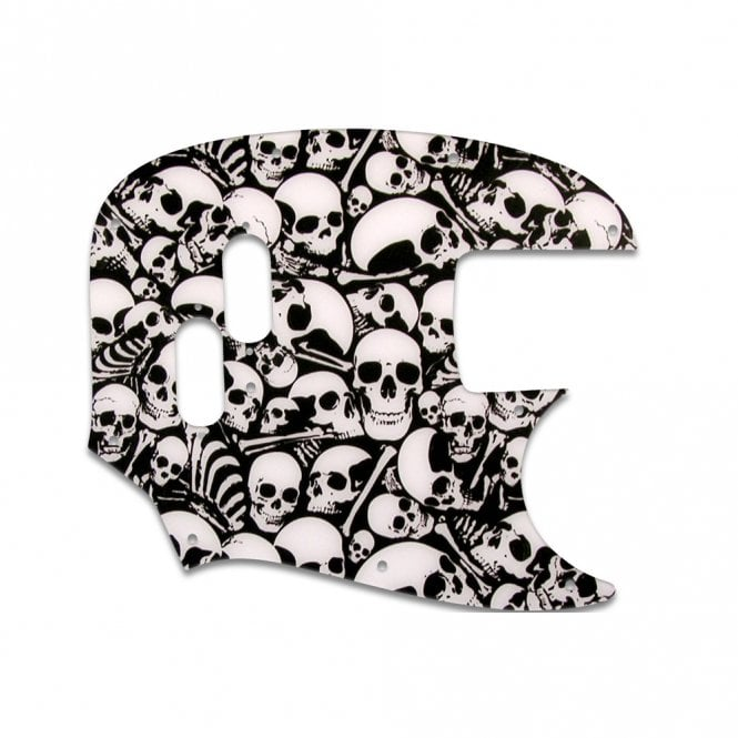 WD Music Mustang Bass (Re-Issue) - Pickguard Skull Pile