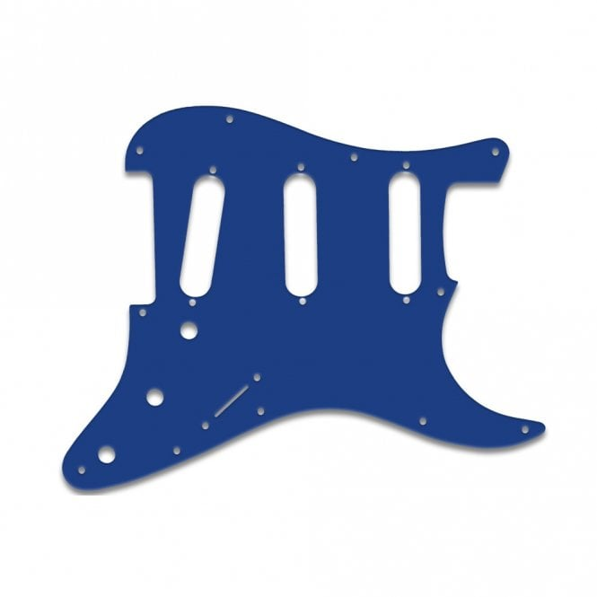 WD Music Old Style 11 Hole Strat - Blue White Blue