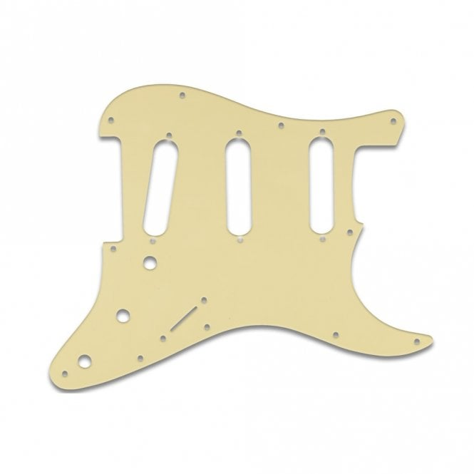 WD Music Old Style 11 Hole Strat - Cream Black Cream